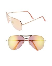 483b1232c6e Steve Madden 60mm Aviator Sunglasses Rose Gold Pink One Size