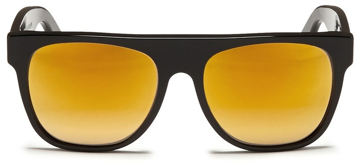 Super Flat Black 24k Sunglasses Flat Top Black 24k Mirror