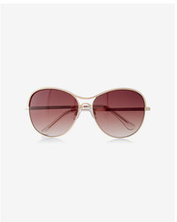 Express Texture Trim Aviator Sunglasses