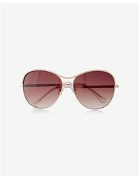 Express Texture Trim Aviator Sunglasses