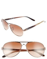 Oakley Tie Breaker 55mm Sunglasses Rose Gold Vr50 Brown