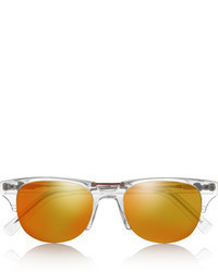 Kenzo Wayfarer Style Acetate Mirrored Sunglasses