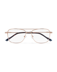 Le Specs Wilderness Aviator Style Gold Tone Optical Glasses