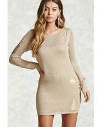 Forever 21 Metallic Knit Sweater Dress