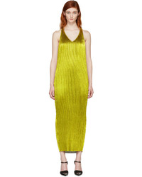 Haider Ackermann Gold Pliss Tank Dress