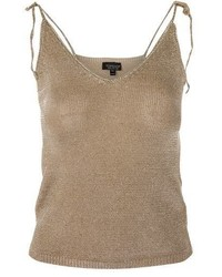 Topshop Metal Yarn Tie Camisole Top