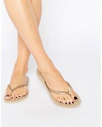 Havaianas Gold Slim Flip Flops