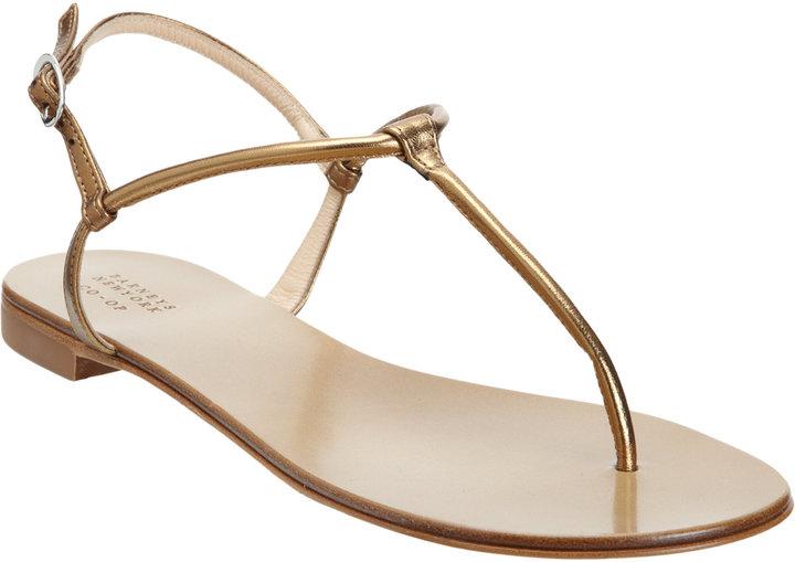 Barneys New York Metallic Thong Sandal