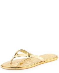 98ff6b901218 ... MICHAEL Michael Kors Michl Michl Kors Emory Buckle Flat Thong Sandal  Gold
