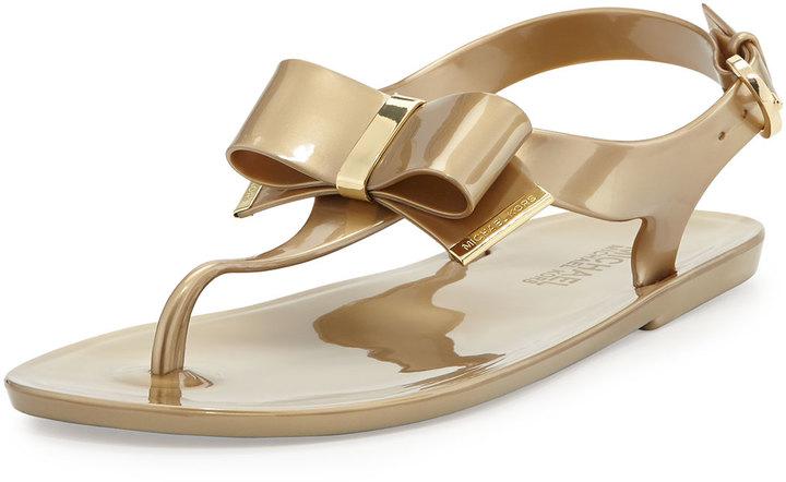 a7d918c3f75 ... MICHAEL Michael Kors Michl Michl Kors Kayden Jelly Thong Sandal Gold ...