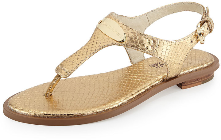 2f4e6347a38b ... MICHAEL Michael Kors Michl Michl Kors Logo Plate Thong Sandal ...