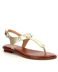 MICHAEL Michael Kors Michl Michl Kors Mk Plate Thong Sandals