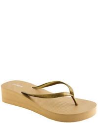 14392b7cd56a Women s Gold Thong Sandals by J.Crew