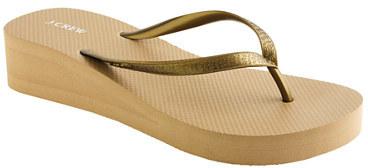 c004997dcfbc7 ... Gold Thong Sandals J.Crew Skinny Wedge Flip Flops ...
