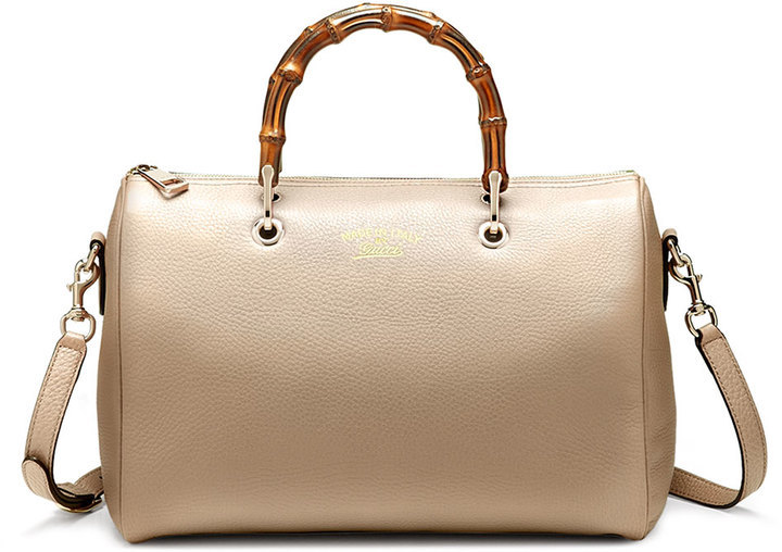 c0a87eeeb7f ... Gucci Bamboo Shopper Medium Boston Bag Golden ...