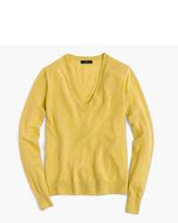Gold V-neck Sweater