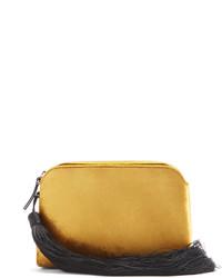 The Row Wristlet Mini Tasselled Velvet Clutch