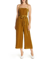 J.Crew Velvet Jumpsuit With Tie