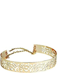 Boohoo Alice Metallic Cut Work Plaque Belt
