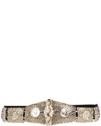 Boohoo Eve Textured Metal Plate Waist Belt