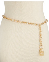 MICHAEL Michael Kors Michl Michl Kors Etched Lock And Key Chain Belt