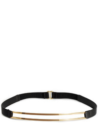 H&M Narrow Waist Belt Blackgold Colored Ladies