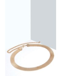 Boohoo Ria Gold Chain Waist Belt
