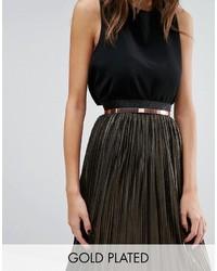 Rose gold metal waist belt medium 1037300