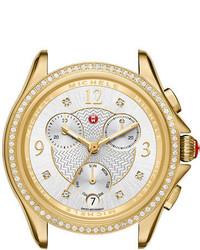 Michele 37mm Belmore Watch Head With Diamonds Gold