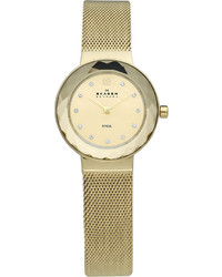 Skagen 456sgsg Gold Plated Stainless Steel Watch