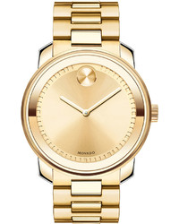 Movado Bold 425mm Gold Ip Stainless Steel Watch