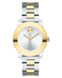 Movado Bold Iconic Two Tone Bracelet Watch