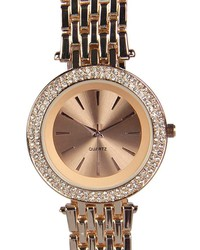 Boohoo Bella Diamante Face Boyfriend Watch