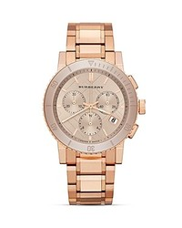 Burberry Rose Gold Tone Chronograph Watch 38mm