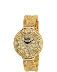 Burgi Crystal Mesh Bracelet Quartz Watch
