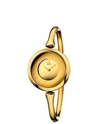 Calvin Klein Gold Plated Steel Sing Watch