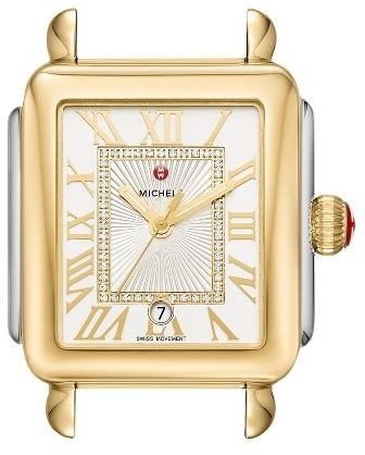 Michele Deco Madison Diamond Dial Watch Case 33mm X 35mm