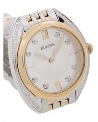 Bulova Diamond Two Tone Bracelet Watch