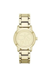 DKNY Gold Stainless Steel Watch Ny8876