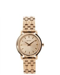 DKNY Gold Tone Stainless Steel Watch Ny8489