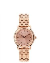 DKNY Rose Gold Tone Stainless Steel Watch Ny8490