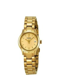Fossil Archival Mini Gold Tone Stainless Steel Ladies Watch Es3166