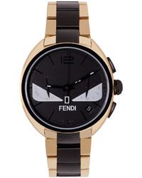 Fendi Gold Black Moto Bugs Watch
