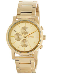 DKNY Gold Dial Stainless Steel Watch