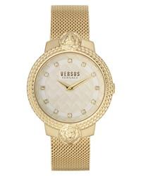 Versus Versace Gold Mesh Bracelet Watch