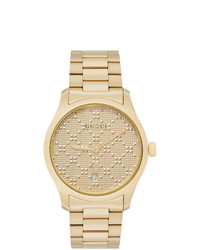 Gucci Gold Pyramid Iconic G Timeless Watch