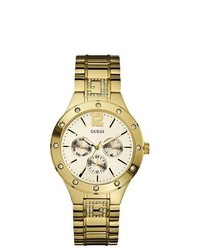 GUESS Gold Tone Chronograph Ladies Watch U15078l1