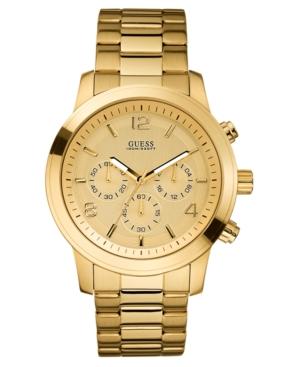 sale retailer d4f69 2de85 Guess Watch Chronograph Gold Tone Stainless Steel 45mm U15061g2