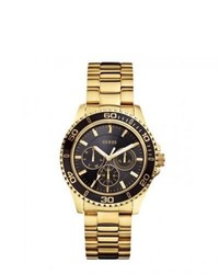 GUESS W0231l3 Sports Gold Chronograph Watch