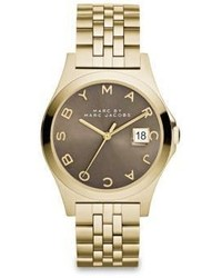 Marc by Marc Jacobs Henry Slim Goldtone Stainless Steel Bracelet Watchdirty Martini